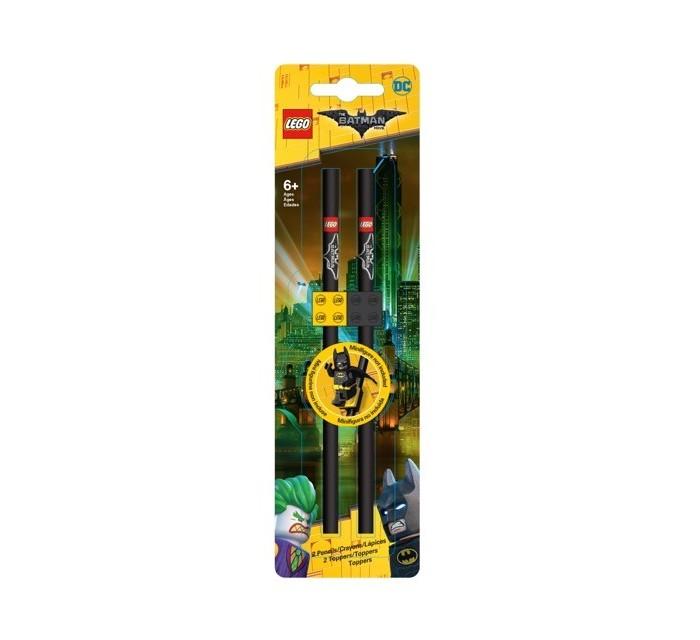 Карандаши, восковые мелки, пастель Lego Набор карандашей с насадками в форме кирпичика Batman Movie 2 шт. набор закладок lego batman glam rocker batman easter bunny batman 3 шт