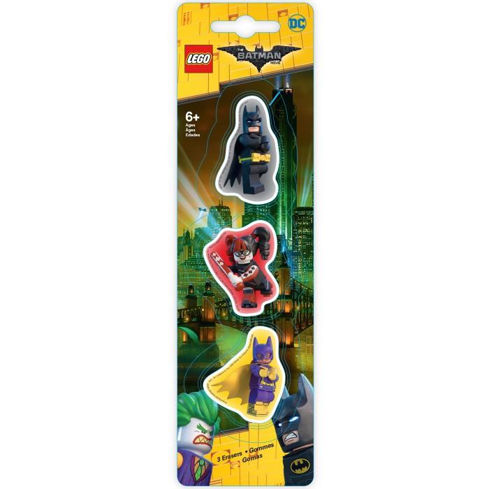 Канцелярия Lego Набор ластиков Batman Movie Batman/Batgirl/Harley Quinn 3 шт.