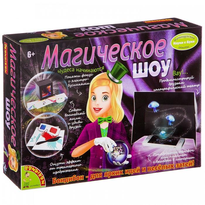 Купить Наборы для опытов и экспериментов, Bondibon Французские опыты Науки с Буки Магическое шоу