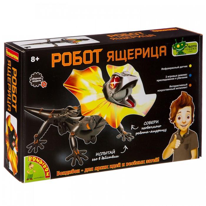 Купить Наборы для опытов и экспериментов, Bondibon Французские опыты Науки с Буки Робот- ящерица чёрная
