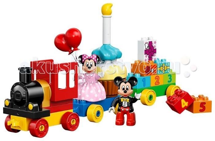 Конструктор Lego Duplo День рождения с Микки и МинниDuplo День рождения с Микки и МинниКонструктор Lego Duplo День рождения с Микки и Минни - для тех, кто готовиться весело встретить свой День Рождения, Микки и Минни построили праздничный паровозик!  В наборе: 2 самых популярных персонажей Disney Микки и Минни Маус.  Из 24 ярких деталей Ваш малыш сможет построить очаровательный паровозик с двумя вагончиками, многоуровневый праздничный торт со свечкой, а также получить настоящие подарки. С помощью специальных кубиков с цифрами Вы сможете заниматься с вашим ребёнком счётом до пяти.  Игра с конструктором Лего поможет развить в Вашем малыше фантазию, усидчивость и навыки абстрактного мышления, ведь комбинируя детали, он сможет собрать всё, что угодно!<br>