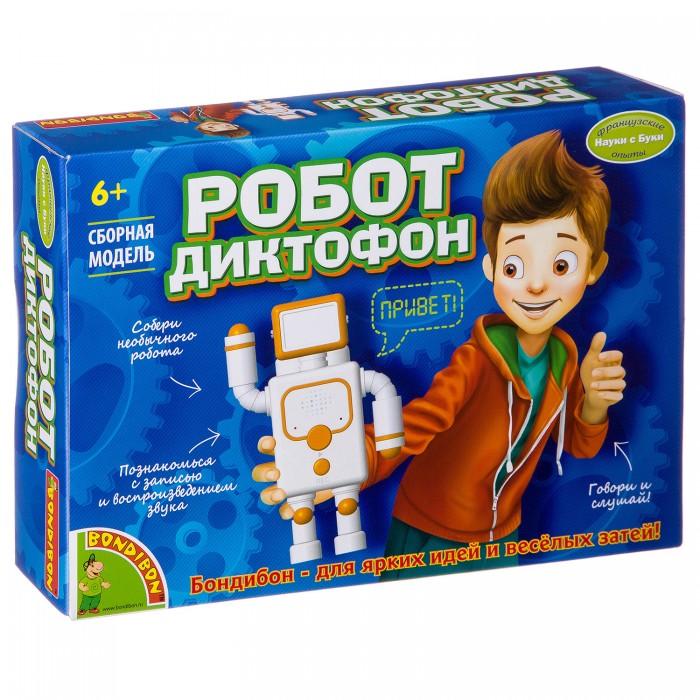 Купить Наборы для опытов и экспериментов, Bondibon Французские опыты Науки с Буки Bondibon Робот-диктофон