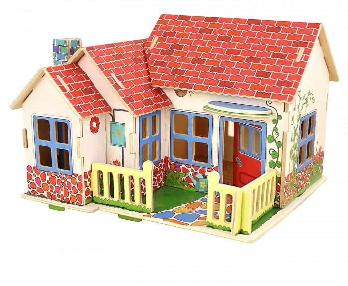 Купить Сборные модели, Bondibon Деревянный 3D пазл Домик в деревне 27 деталей