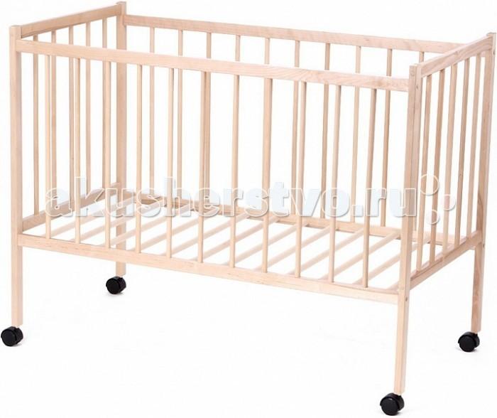 Детская кроватка Промтекс Колибри-миниКолибри-миниДетская кроватка Промтекс Колибри-мини выполнена из массива березы.   Кровать Промтекс Колибри-мини выполнена из натурального дерева. Предназначена для детей возрастом от одного года. В дизайне модели нет никаких излишеств – стильная и простая, она будет отлично смотреться любом интерьере.   Благодаря экологичностим материала производства и использованию безвредных лакокрасочных покрытий, кроватка безопасна для ребенка.  Особенности: Корпус отличается прочностью и долговечностью. Благодаря применению натуральной древесины, он не подвержен деформации и не боится ударов. Округлость деталей и отсутствие острых углов, тщательная шлифовка поверхности и покрытие ее специальным лаком обеспечивает безопасность и отсутствие риска травмировать ребенка. Модель оборудована четырьмя колесиками со специальным полимерным слоем, не позволяющим портить напольное покрытие. Благодаря им кроватку легко перемещать. Каркас легкий, не доставляет неудобств в эксплуатации. При загрязнении, достаточно помыть водой или воспользоваться влажными чистящими салфетками. Размеры: 125 х 65 х 115 см. Размеры спального места: 120 х 60 см. Вес: 10 кг.<br>