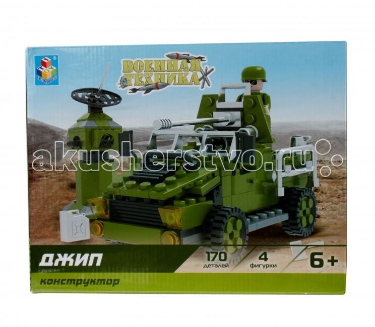 Конструкторы 1 Toy Конструктор Военная техника Джип (170 деталей) конструктор военная техника cogo конструктор военная техника