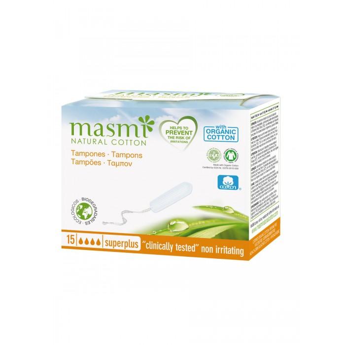 Купить Гигиенические прокладки, Masmi Гигиенические тампоны Super Plus из органического хлопка 15 шт.