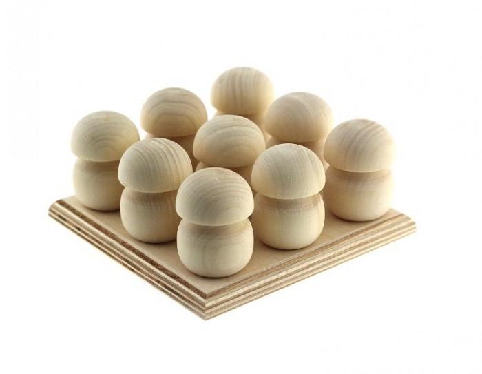 Фото - Деревянные игрушки Уланик Набор Монтессори под раскраску Грибы на подставке (9 грибочков) деревянные игрушки уланик игра монтессори грибная поляна 25 грибочков