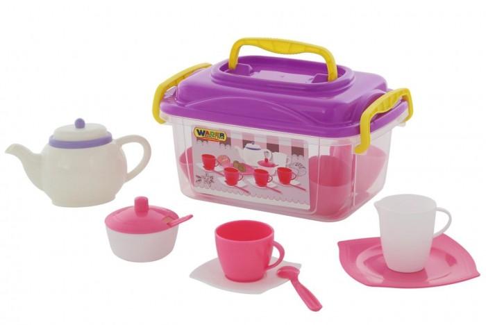 Купить Ролевые игры, Wader Набор детской посуды Алиса на 4 персоны (19 элементов)