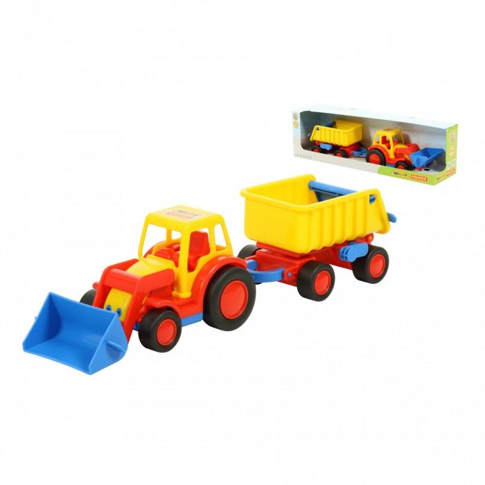 Машины Wader Базик Трактор-погрузчик с прицепом погрузчик wader базик 37626 22 см
