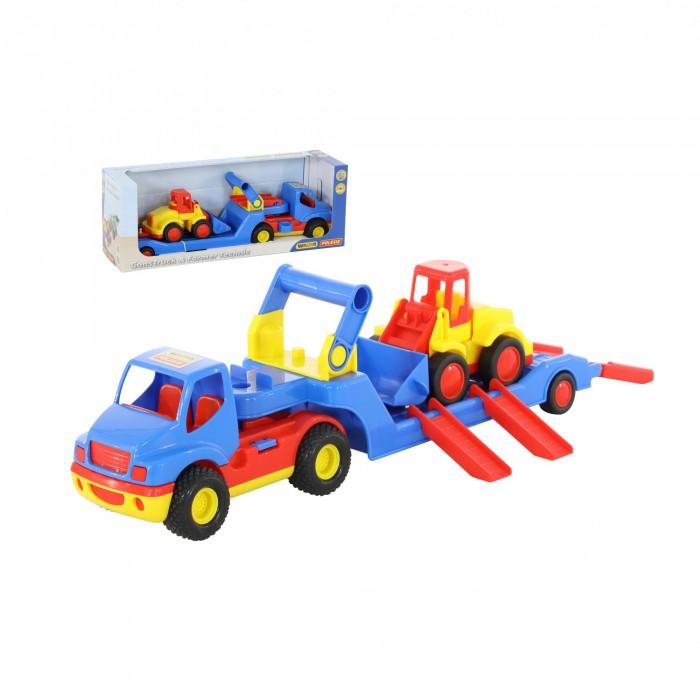 Машины Wader КонсТрак автомобиль Трейлер и Базик Погрузчик