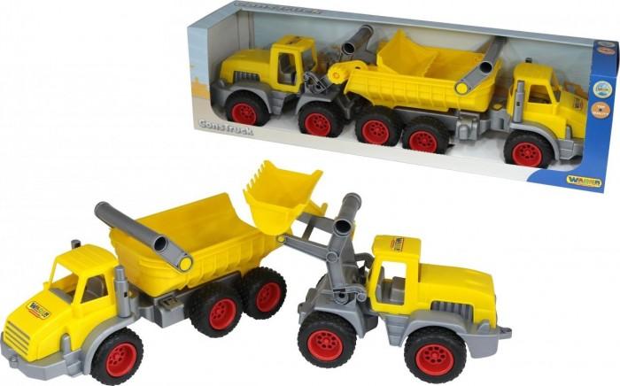 Купить Машины, Wader КонсТрак трёхосный автомобиль Самосвал и Трактор-погрузчик