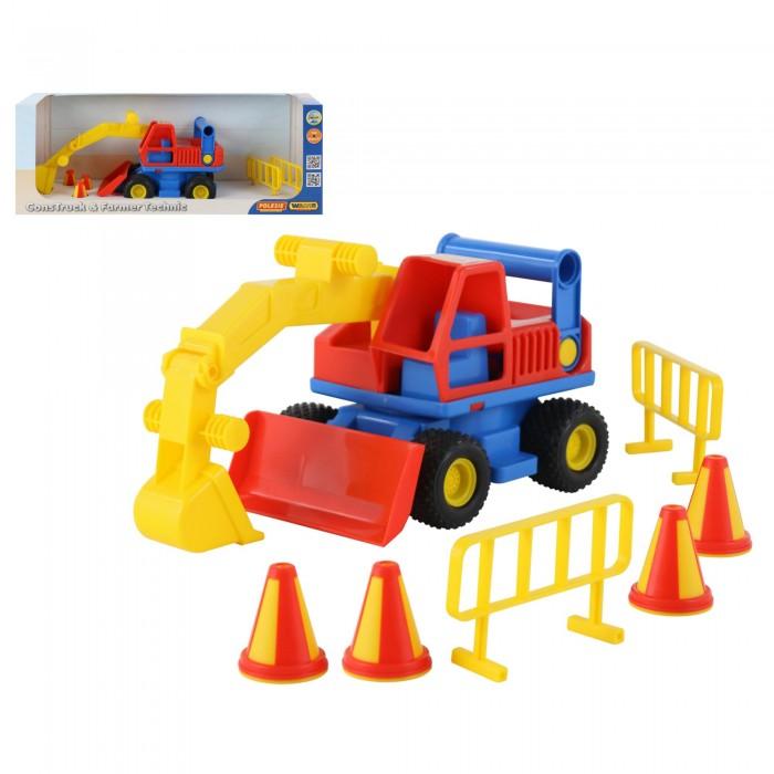 Купить Wader КонсТрак Экскаватор колёсный в коробке в интернет магазине. Цены, фото, описания, характеристики, отзывы, обзоры