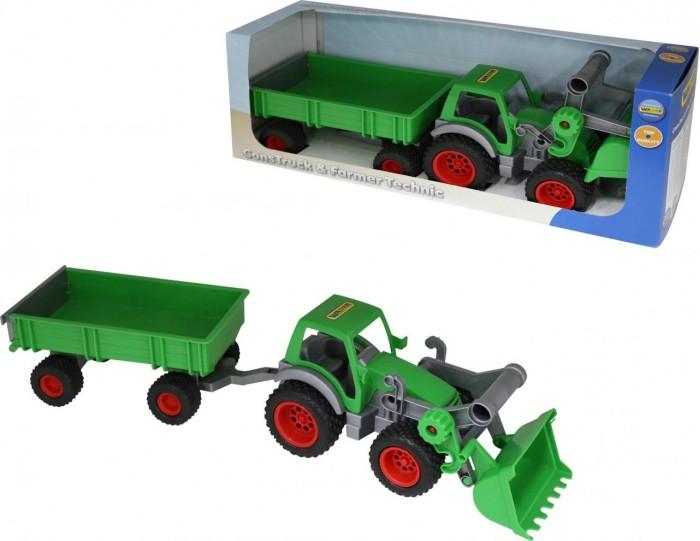 Машины Wader Фермер-техник Трактор-погрузчик с прицепом