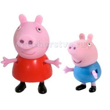 Игровые фигурки Свинка Пеппа (Peppa Pig) Набор Пеппа и Джордж игровые фигурки свинка пеппа peppa pig семья пеппы 2 фигурки