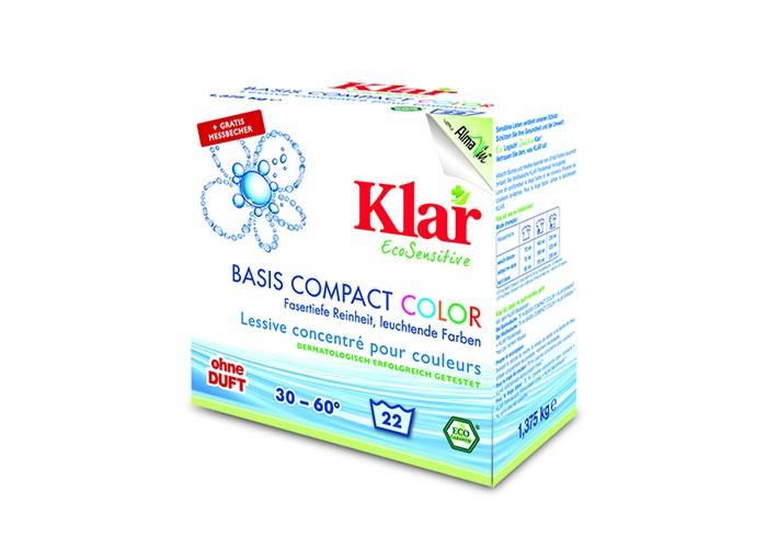 Купить Бытовая химия, Klar Стиральный концентрированный порошок для цветного белья 1.375 кг