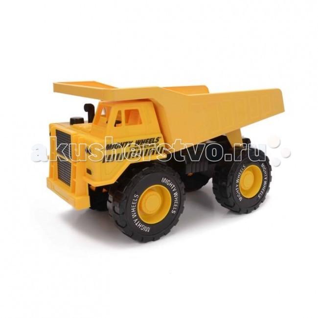 Mighty Wheels Soma Строительная техника Карьерный грузовик 40 смSoma Строительная техника Карьерный грузовик 40 смMighty Wheels Soma Строительная техника Карьерный грузовик 40 см - необходимая на любой стройке техника. Ребенок сможет придумать много сюжетно-ролевых игр с участием этой машины, развивая фантазию, воображение, координацию и мелкую моторику.  Игрушки Soma Mighty Wheels изготовлены из качественного пластика и металла, сочетание традиционного для строительной техники жёлто-оранжевого цвета корпуса и больших чёрных колёс создаёт позитивное солнечное настроение у играющих.   Внешняя схожесть с настоящими строительными машинами, наличие движущихся колёс и подъёмного кузова-самосвала позволит Вашим детям почувствовать себя в игре участниками реальной стройки.<br>