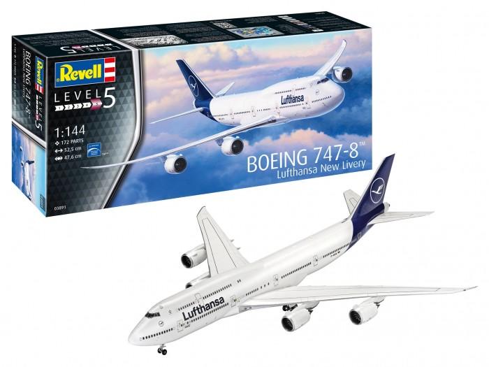 Конструктор Revell Самолет Boeing 747-8 Lufthansa New Livery