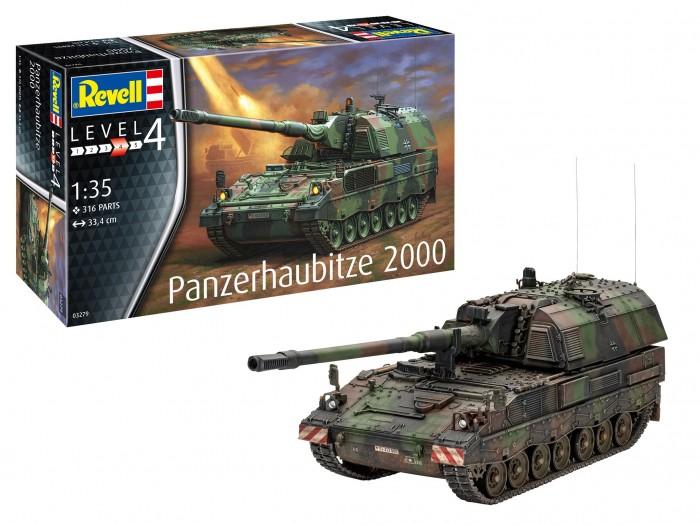 Сборные модели Revell Немецкая самоходная артиллерийская установка Panzerhaubitze 2000