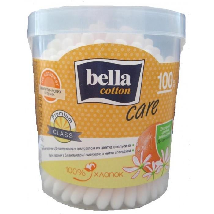 Купить Bella Ватные палочки Cotton care с Д-пантенолом и экстрактом апельсина в круглой упаковке 100 шт. в интернет магазине. Цены, фото, описания, характеристики, отзывы, обзоры
