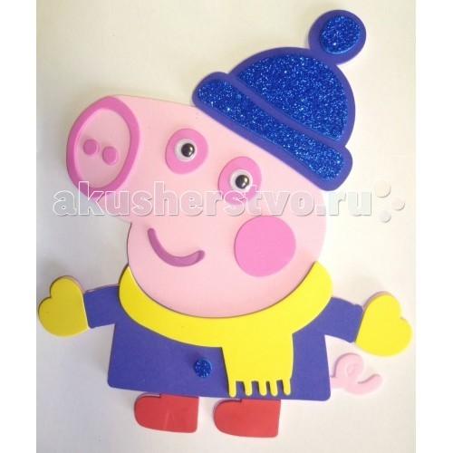 Наборы для творчества Свинка Пеппа (Peppa Pig) Аппликация Джордж 28293 мягкая игрушка peppa pig джордж с машинкой свинка розовый текстиль 18 см 29620