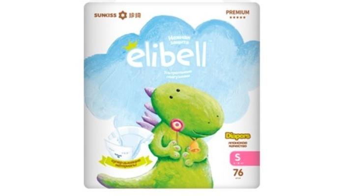 Купить Elibell Подгузники S (4-8 кг) 76 шт. в интернет магазине. Цены, фото, описания, характеристики, отзывы, обзоры