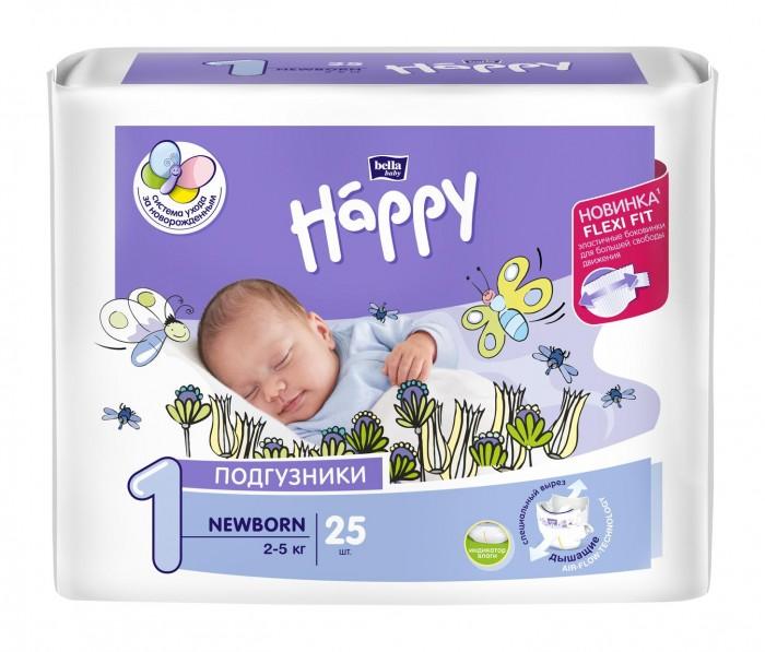 Купить Bella Подгузники Happy Newborn с вырезом под пуповину (2-5 кг) 25 шт. в интернет магазине. Цены, фото, описания, характеристики, отзывы, обзоры