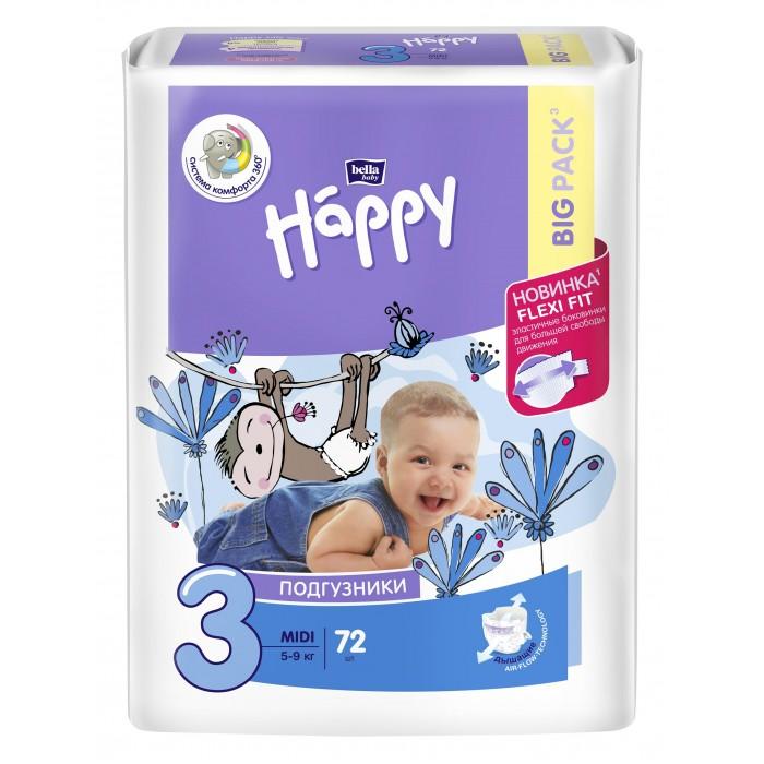 Подгузники Bella baby Happy Midi (5-9 кг) 72 шт.