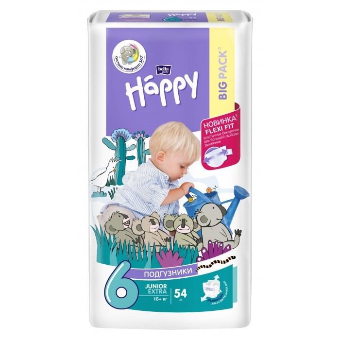 Bella baby Happy Подгузники Happy Junior Extra (16+ кг) 54 шт.