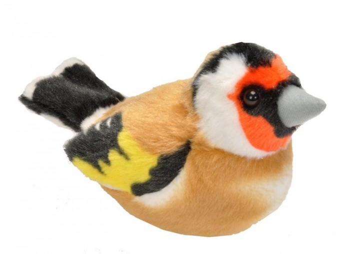 Мягкая игрушка Wild Republic Птица озвученная Щегол 15 см