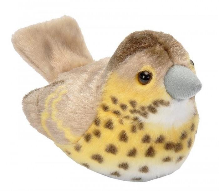 Мягкие игрушки Wild Republic Птица озвученная Дрозд певчий 15 см