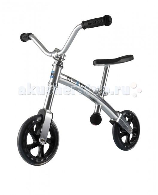 Беговел Micro G-Bike HarleyG-Bike HarleyЛегкий беговел на котором легко маневрировать, поможет упростить вашему ребенку обучение езде на велосипеде. Сиденье и руль регулируются по высоте, чтобы соответствовать росту вашего ребенка. Большие колеса для дополнительной стабильности, большой руль с удобными ручками.   G-Bike – это великолепный велосамокат, который специально создан в помощь самым юным спортсменам. Безопасный и легкий, прочный и долговечный G-Bike научит ваших детей держать равновесие и управлять им, как взрослым велосипедом. Дети очень быстро приобретают уверенность, отталкиваясь ногами и балансируя на G-Bikе.  Рама Micro G-Bike сделана из легкого алюминиевого сплава, и примерно в два раза легче аналогичных моделей других производителей (вес G-bike всего 3.3 килограмма), поэтому его легко транспортировать и можно даже просто положить поверх коляски, выходя на прогулку.  Прекрасное сочетание стильного швейцарского дизайна с практичностью, G-Bike обладает регулируемым гладким черным сидением и сочетающимися с ним ручками управления. И, так как безопасность всегда является главным отличием продуктов бренда Micro, G-Bike оснащен 200 мм колесами, обеспечивающими супер-устойчивость, маневренность и плавный ход.  Вес:   3300 гр Высота руля:   от 48 до 52 см. Высота сиденья:   35-40 см Возраст:   2-5 лет Макс.нагрузка:   20 кг Колеса:   &#8709;200 полиуритан Подшипник:   ABEC-5 Цвет:   Серебристый Особенность:   руль под Харлей-Чёпер<br>