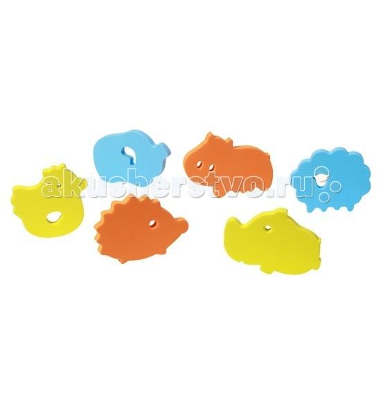babyono контейнер для игры в ванной цвет голубой Игрушки для ванны BabyOno Пазл для игры в ванной