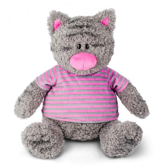 Купить Мягкие игрушки, Мягкая игрушка Maxitoys Серый Кот в Полосатой Майке 30 см