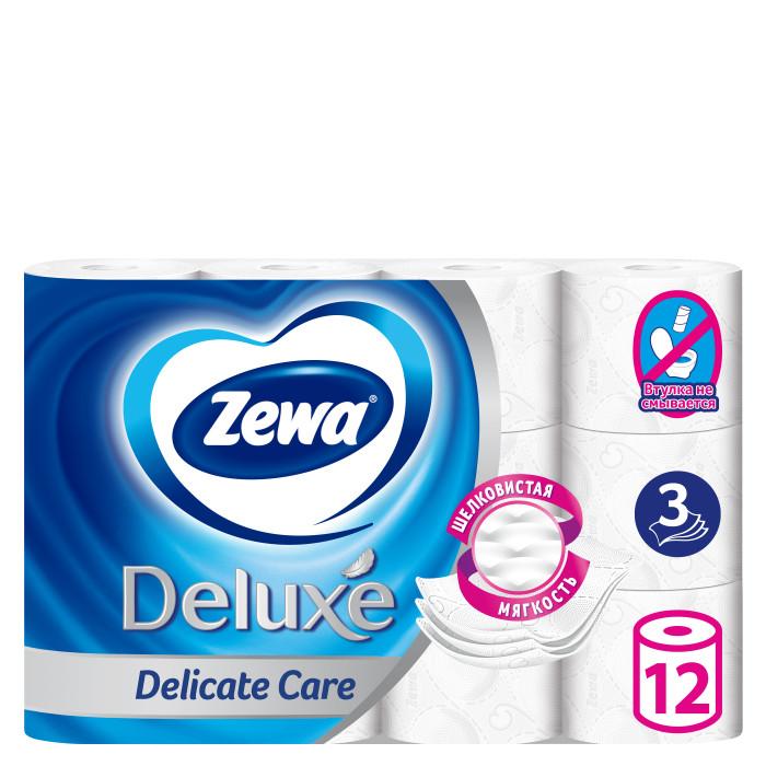 Хозяйственные товары Zewa Туалетная бумага Deluxe Без аромата 3-х слойная 12 шт.