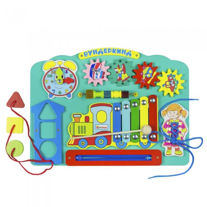 Картинка для Деревянные игрушки Alatoys Бизиборд Вундеркинд ББ113