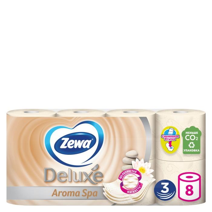Хозяйственные товары Zewa Туалетная бумага Deluxe Арома СПА 3-х слойная 8 шт.