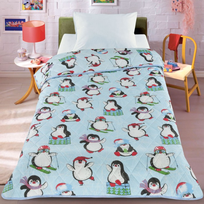 Одеяло Letto Покрывало Пингвин 140х200 см