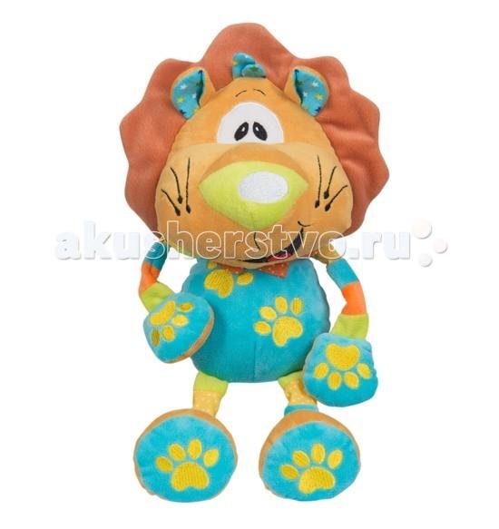 Мягкие игрушки BabyOno Львенок с погремушкой babyono мягкая игрушка с погремушкой ежик сharlie