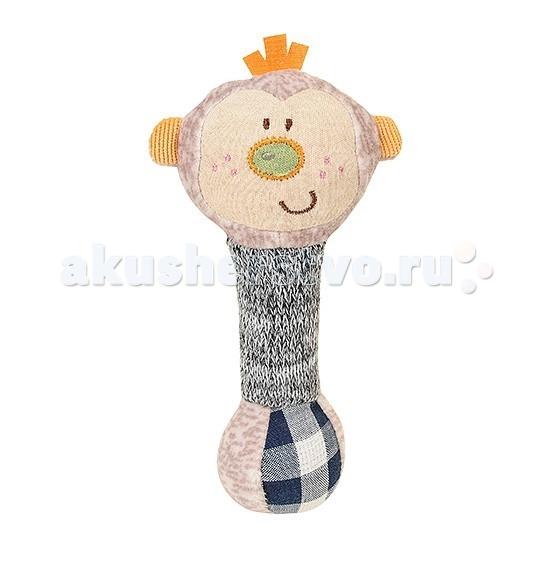 Мягкие игрушки BabyOno пищалка Маленькая Обезьянка babyono развивающая игрушка гимнастика малыша