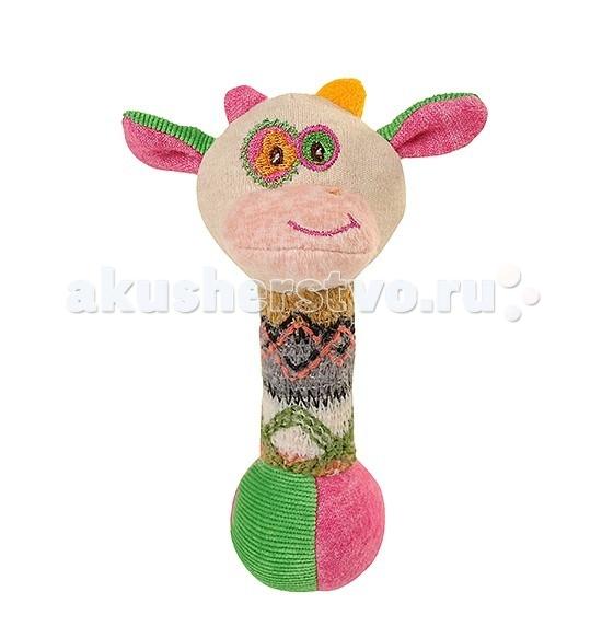 Мягкие игрушки BabyOno пищалка Маленькая Коровка babyono развивающая игрушка гимнастика малыша