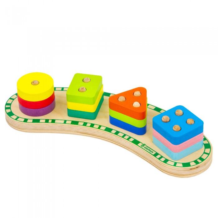 Картинка для Деревянные игрушки Alatoys Сортер СОР24