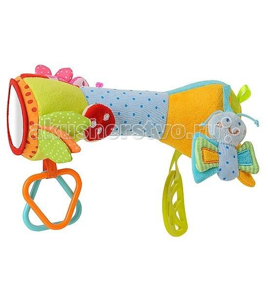 Развивающие игрушки BabyOno с погремушкой Валик с бабочкой babyono развивающая игрушка гимнастика малыша