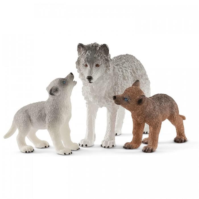 игровые фигурки Игровые фигурки Schleich Игровые фигурки Самка волка со щенками