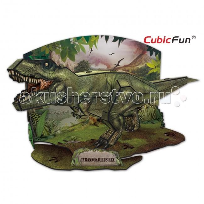 Конструкторы CubicFun 3D пазл Эра Динозавров Тираннозавр cubicfun пазл 3d эра динозавров трицератопс cubicfun