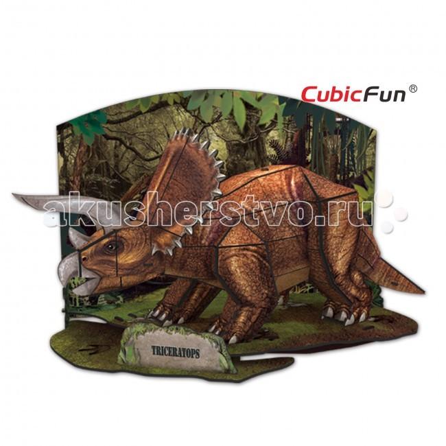 Конструкторы CubicFun 3D пазл Эра Динозавров Трицератопс cubicfun пазл 3d эра динозавров трицератопс cubicfun