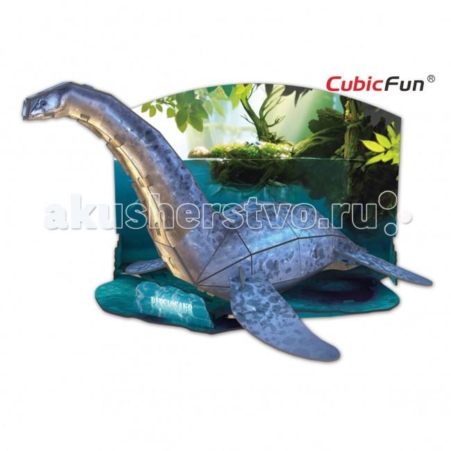 Конструкторы CubicFun 3D пазл Эра Динозавров Плезиозавр конструкторы cubicfun 3d пазл эйфелева башня 2 франция