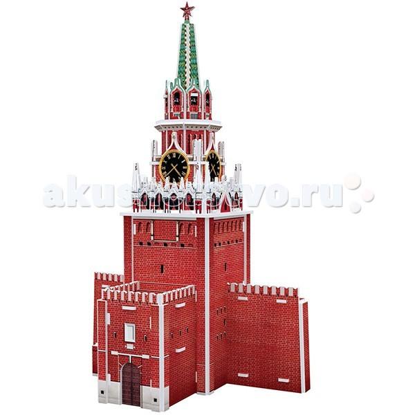 Сборные модели CubicFun 3D пазл Спасская башня Россия брошь спасская башня