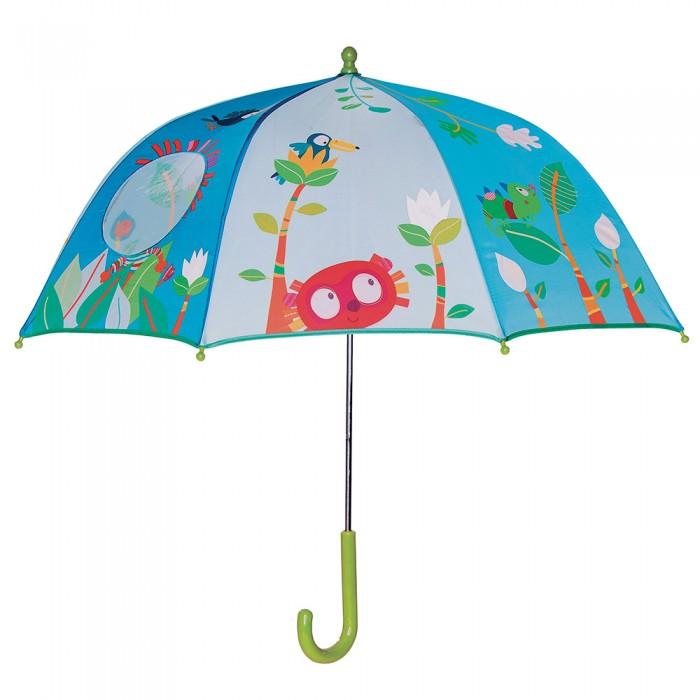 Детский зонтик Lilliputiens Зонт Лемур ДжорджДетские зонтики<br>Lilliputiens Зонт Лемур Джордж  Плохой погоды не бывает, особенно, когда у ребенка есть этот волшебный зонтик от Lilliputiens. Теперь весело не только прыгать по лужам, но и просто смотреть на дождь!   В центре зонта есть специальная прозрачная вставка, благодаря которой легко контролировать ситуацию на дороге и наблюдать за погодой. А когда дождь полностью намочит зонтик, вы увидите, как на нем появятся новые рисунки, которые исчезнут сразу после того, как зонт высохнет.   Кроме этого, есть специальное отделение, где можно оставить контактные данные и не переживать, что ребенок забудет где-то, теперь его точно смогут вернуть!  Особенности: Яркий дизайн в стиле лемур Джордж После намокания проявляются новые рисунки Специальное отделение для контактных данных Прозрачная вставка, что бы ребенок хорошо видел дорогу Ручной механизм, с которым ребенок легко справиться Металлическая система
