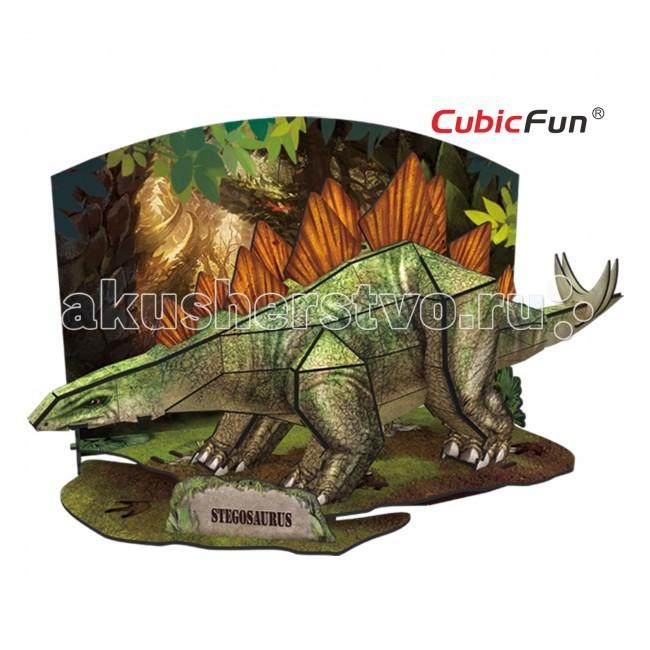 Конструкторы CubicFun 3D пазл Эра Динозавров Стегозавр конструкторы cubicfun 3d пазл эйфелева башня 2 франция