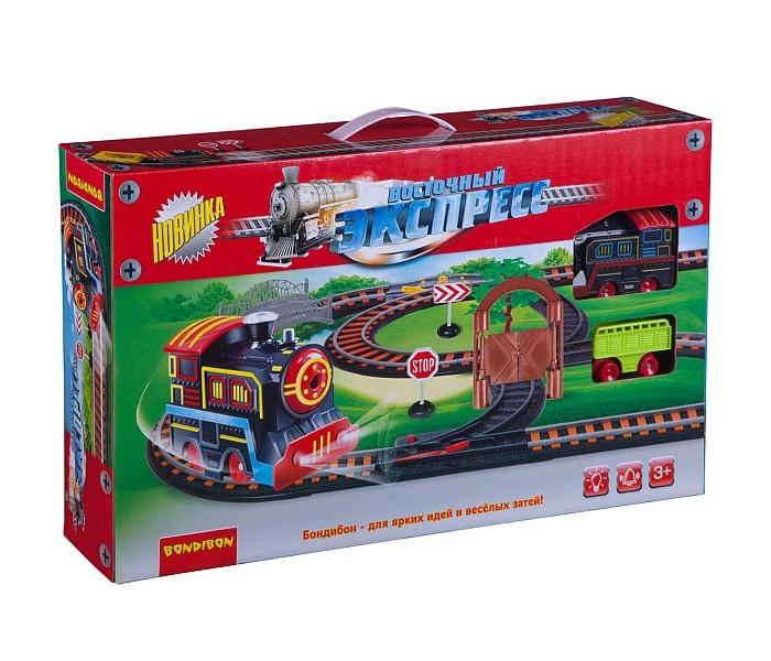 Купить Железные дороги, Bondibon Железная дорога Восточный экспресс с одним паровозом и вагоном 258 см